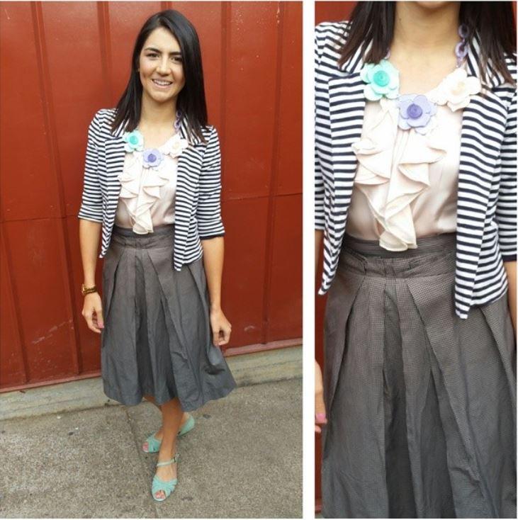 how to wear midi skirts whattheteacherwears